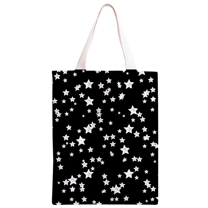Black And White Starry Pattern Classic Light Tote Bag