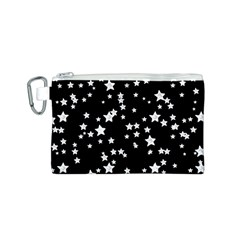 Black And White Starry Pattern Canvas Cosmetic Bag (s)