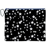 Black And White Starry Pattern Canvas Cosmetic Bag (XXXL) Front
