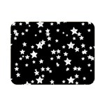 Black And White Starry Pattern Double Sided Flano Blanket (Mini)  35 x27 Blanket Front
