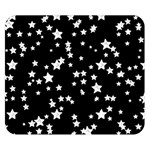 Black And White Starry Pattern Double Sided Flano Blanket (Small)  50 x40 Blanket Back