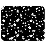 Black And White Starry Pattern Double Sided Flano Blanket (Medium)  60 x50 Blanket Front