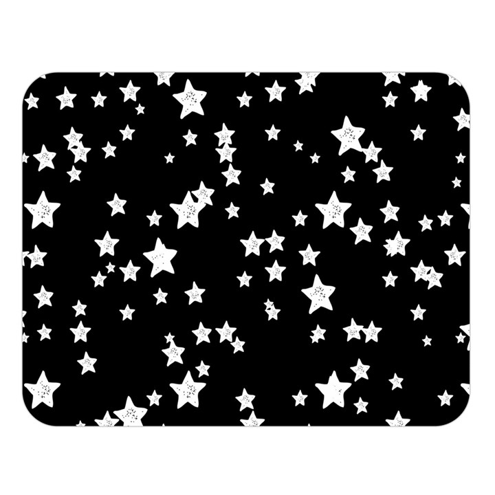 Black And White Starry Pattern Double Sided Flano Blanket (Large)