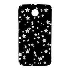 Black And White Starry Pattern Nexus 6 Case (White)