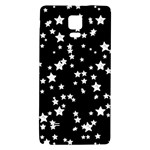 Black And White Starry Pattern Galaxy Note 4 Back Case Front