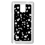 Black And White Starry Pattern Samsung Galaxy Note 4 Case (White) Front