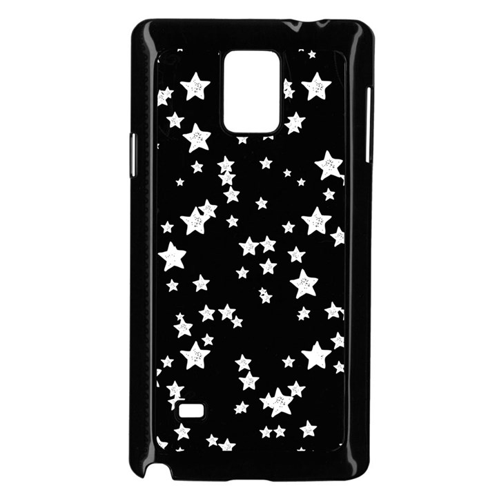Black And White Starry Pattern Samsung Galaxy Note 4 Case (Black)