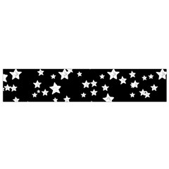 Black And White Starry Pattern Flano Scarf (Small)