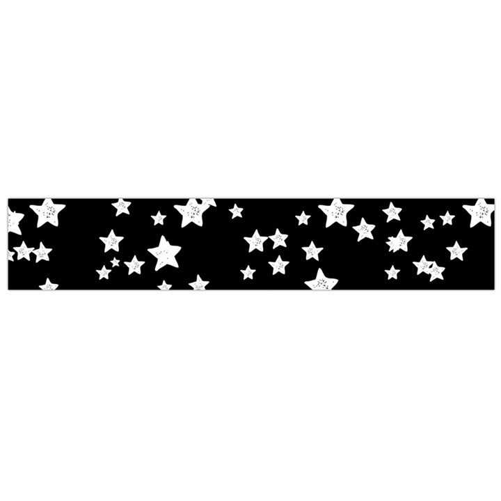 Black And White Starry Pattern Flano Scarf (Large)