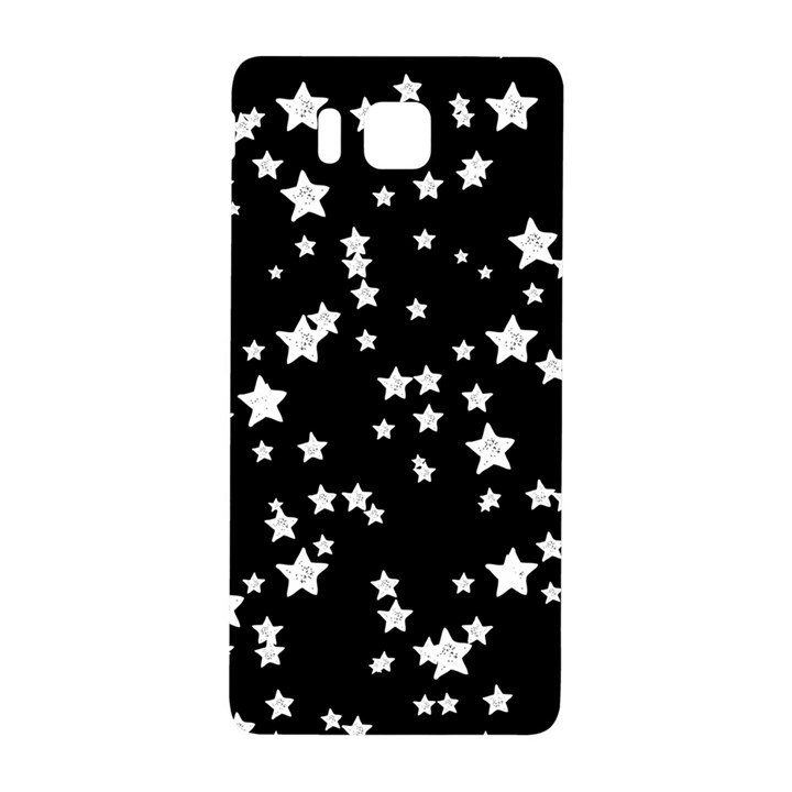 Black And White Starry Pattern Samsung Galaxy Alpha Hardshell Back Case