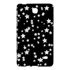 Black And White Starry Pattern Samsung Galaxy Tab 4 (7 ) Hardshell Case