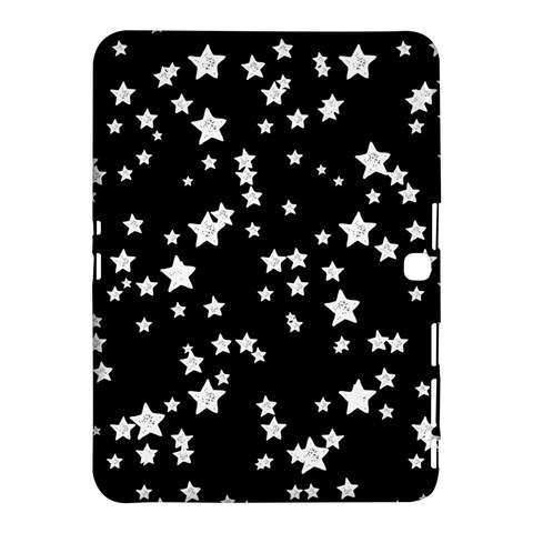 Black And White Starry Pattern Samsung Galaxy Tab 4 (10.1 ) Hardshell Case