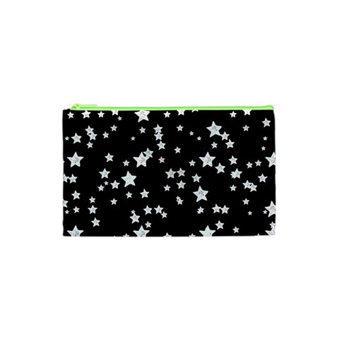 Black And White Starry Pattern Cosmetic Bag (XS)