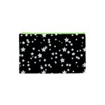 Black And White Starry Pattern Cosmetic Bag (XS) Front