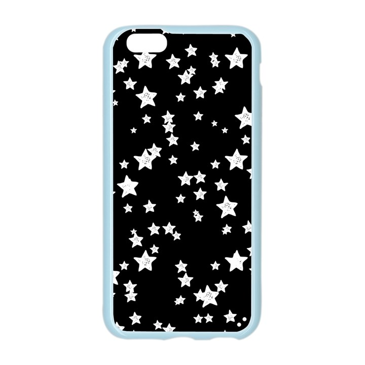 Black And White Starry Pattern Apple Seamless iPhone 6/6S Case (Color)