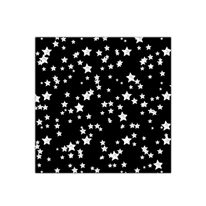 Black And White Starry Pattern Satin Bandana Scarf