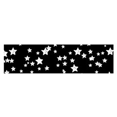 Black And White Starry Pattern Satin Scarf (Oblong)
