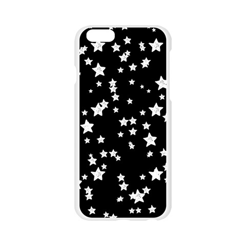 Black And White Starry Pattern Apple Seamless iPhone 6/6S Case (Transparent)