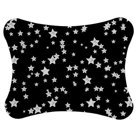 Black And White Starry Pattern Jigsaw Puzzle Photo Stand (Bow)