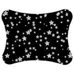 Black And White Starry Pattern Jigsaw Puzzle Photo Stand (Bow) Front
