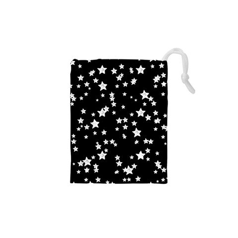 Black And White Starry Pattern Drawstring Pouches (XS)