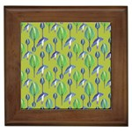 Tropical Floral Pattern Framed Tiles Front