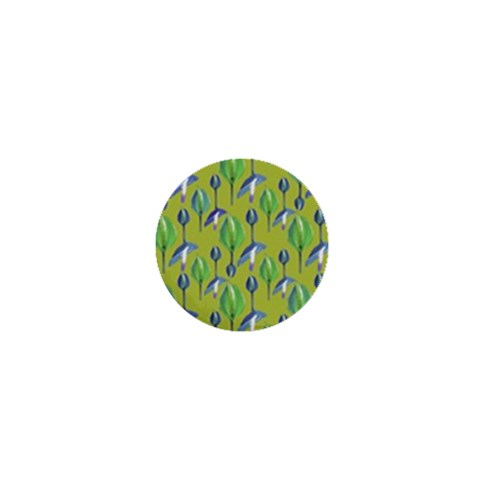 Tropical Floral Pattern 1  Mini Magnets