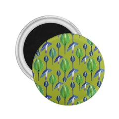 Tropical Floral Pattern 2 25  Magnets