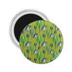 Tropical Floral Pattern 2.25  Magnets Front