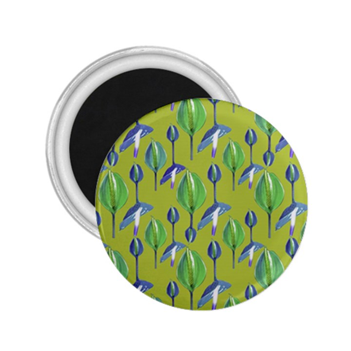 Tropical Floral Pattern 2.25  Magnets