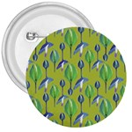 Tropical Floral Pattern 3  Buttons Front