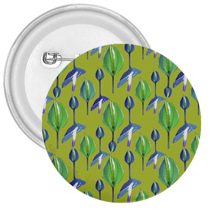 Tropical Floral Pattern 3  Buttons