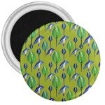Tropical Floral Pattern 3  Magnets Front