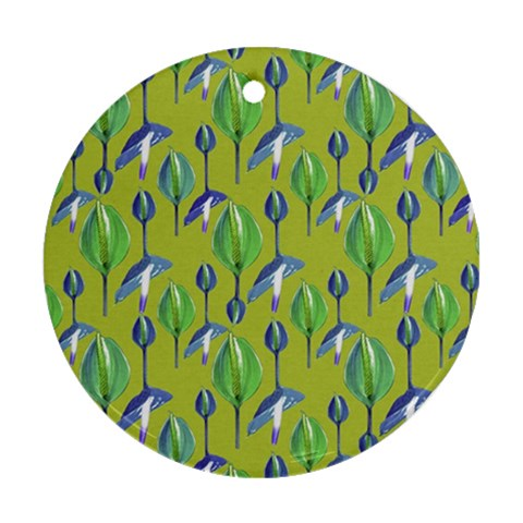 Tropical Floral Pattern Ornament (Round)