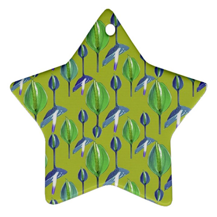 Tropical Floral Pattern Ornament (Star)