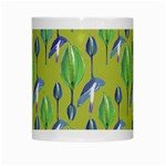 Tropical Floral Pattern White Mugs Center