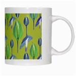 Tropical Floral Pattern White Mugs Right
