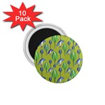 Tropical Floral Pattern 1.75  Magnets (10 pack)  Front