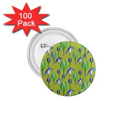 Tropical Floral Pattern 1 75  Buttons (100 Pack)
