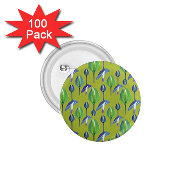 Tropical Floral Pattern 1.75  Buttons (100 pack)