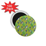 Tropical Floral Pattern 1.75  Magnets (100 pack)  Front