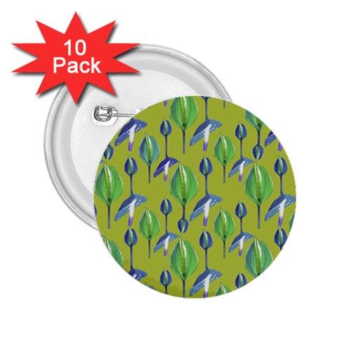 Tropical Floral Pattern 2.25  Buttons (10 pack)