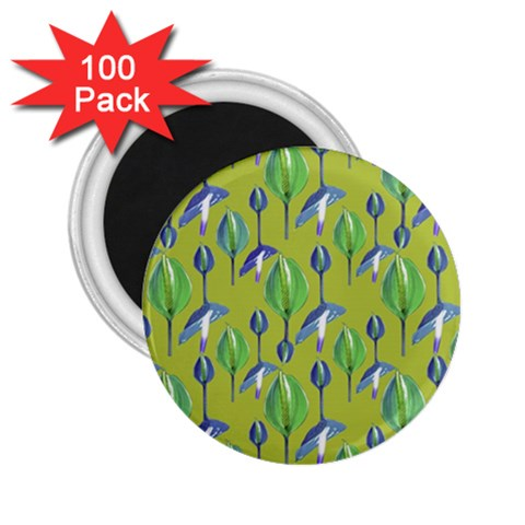 Tropical Floral Pattern 2.25  Magnets (100 pack)