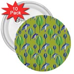 Tropical Floral Pattern 3  Buttons (10 pack)  Front