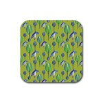 Tropical Floral Pattern Rubber Coaster (Square)  Front