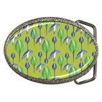 Tropical Floral Pattern Belt Buckles Front