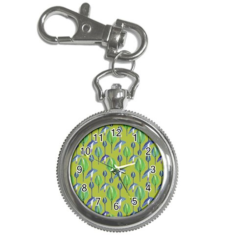 Tropical Floral Pattern Key Chain Watches
