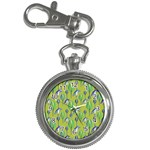 Tropical Floral Pattern Key Chain Watches Front