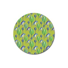 Tropical Floral Pattern Magnet 3  (Round)