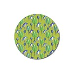 Tropical Floral Pattern Magnet 3  (Round) Front